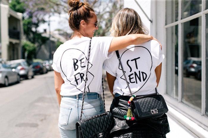 tee shirt pour amis amitié idée cadeau amie