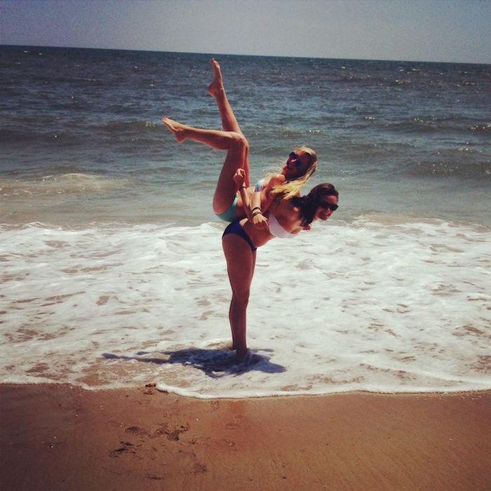 swag photo de meilleur amie sur la plage