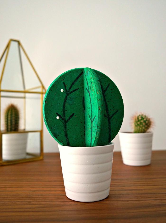 Formidable décoration bricolage avec bouchon de liège plant cactus diy de liège idée adorable