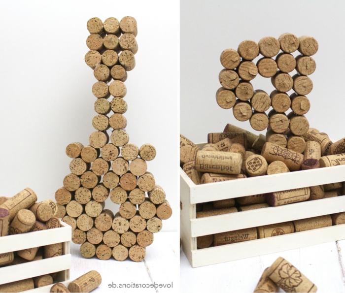 Faire guitare de bouchons de liège créer des figures 3 d de bouchon de liège comment faire inspiration photo