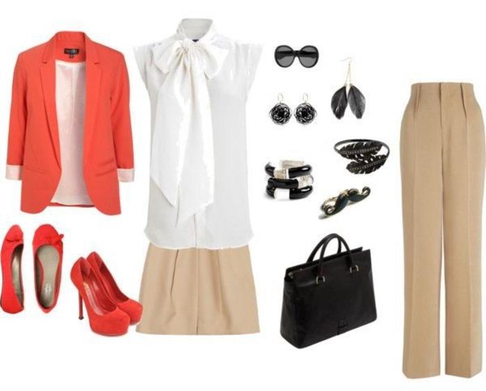 comment porter le pantalon kaki femme pour aller au bureau, les bonnes combinaison pour un pantalon chino