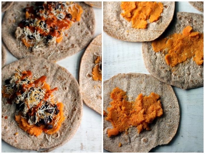 que manger au petit déjeuner, recette originale de wraps à la patate douce et aux haricots noirs pour un bon départ de la journée
