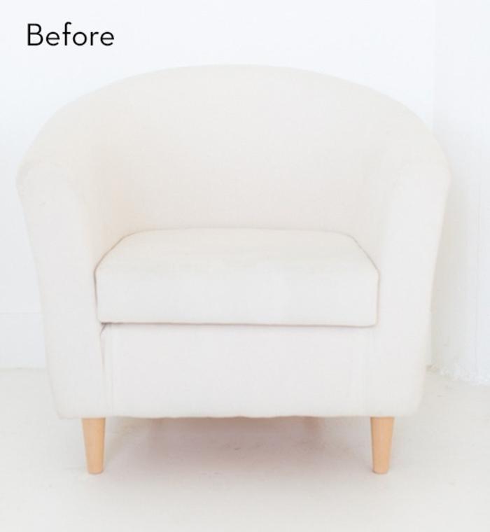idée originale pour relooker des chaises en tissu avec de la peinture pour textiles