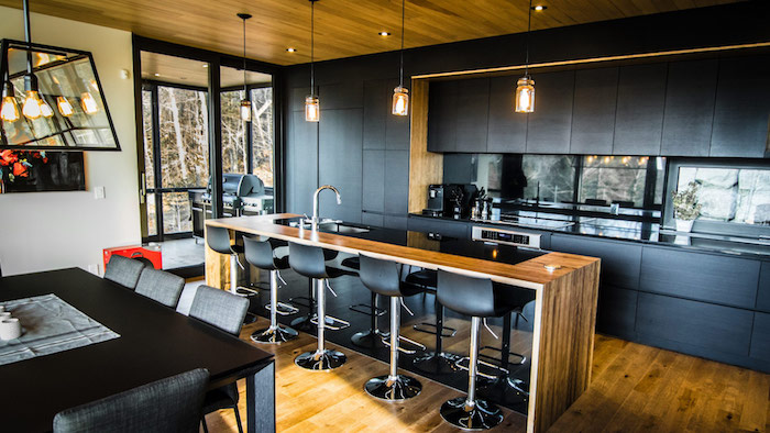 cuisines équipées modèle de cuisine ikea noire