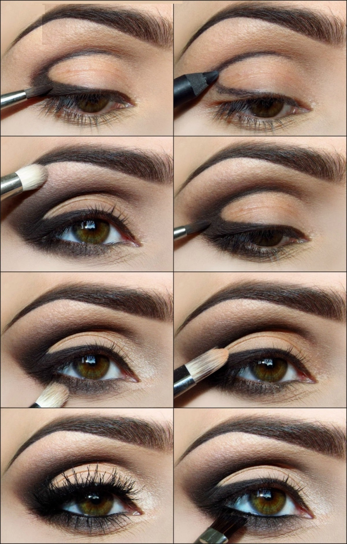 tuto maquillage yeux verts eye liner. Black Bedroom Furniture Sets. Home Design Ideas