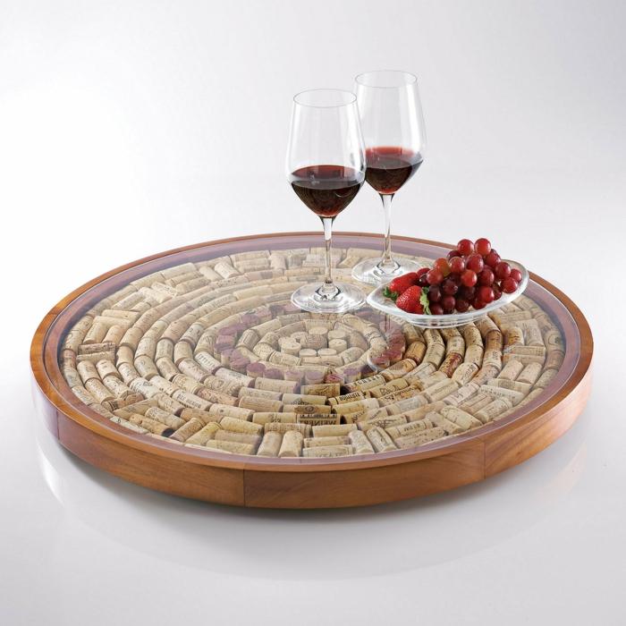Cadre table à emprunter idee en liege de bouteilles que faire avec bouchons de liege