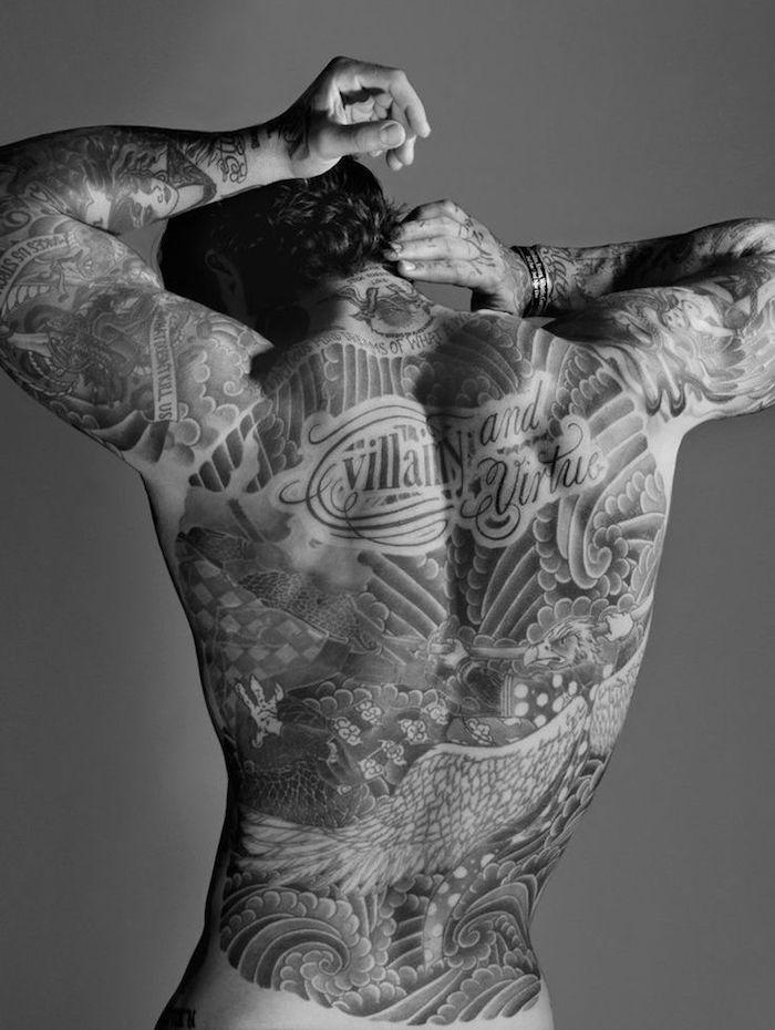 ▷ 1001+ idées | tatouage dos homme – sous le signe du verso