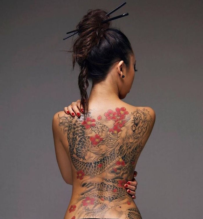 1001 id es tatouage dragon japonais mythologie et puissance. Black Bedroom Furniture Sets. Home Design Ideas