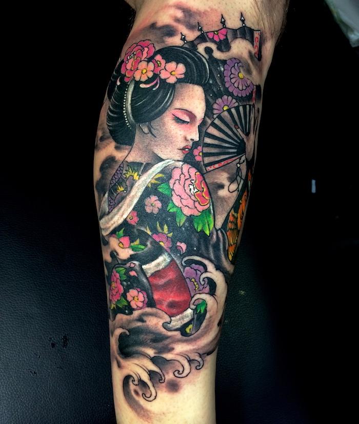 1001 id es tatouage geisha plaisir et tradition en 40. Black Bedroom Furniture Sets. Home Design Ideas