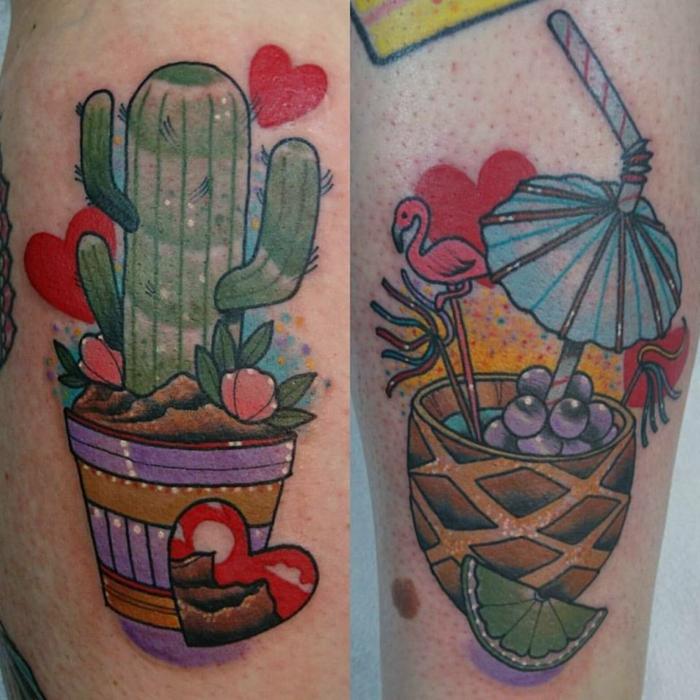 tatouages colorés,