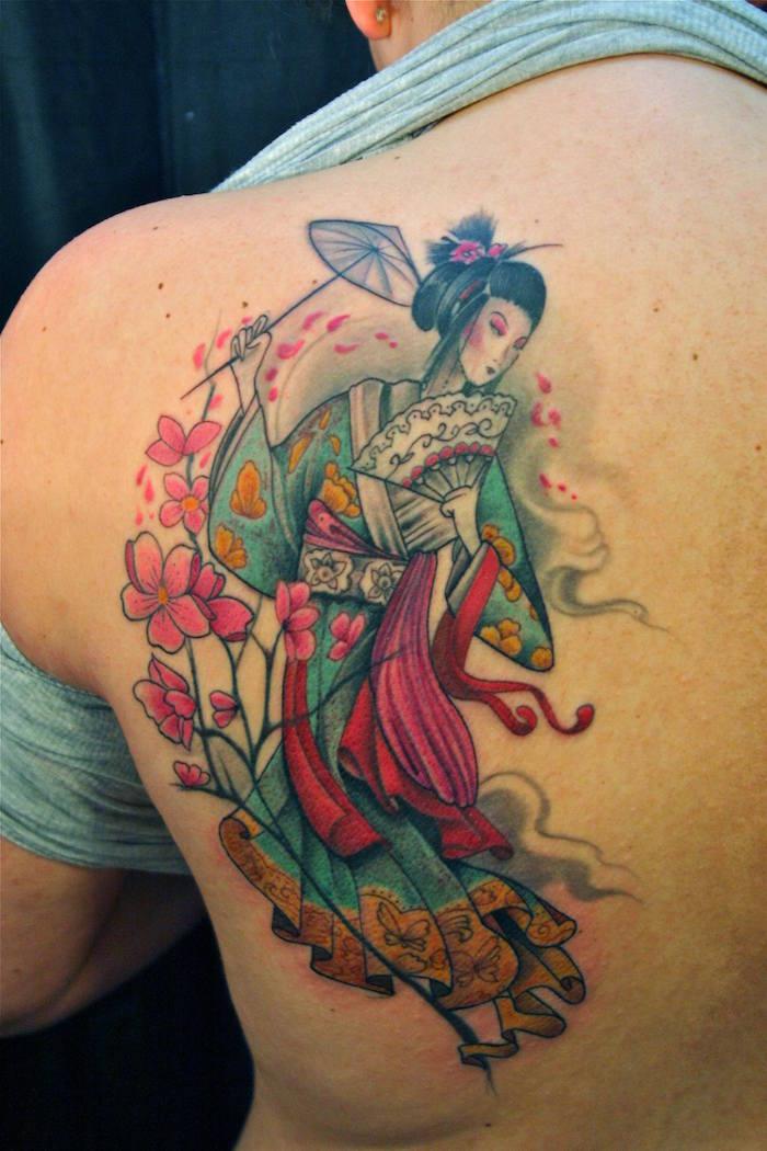 1001 Idees Tatouage Geisha Plaisir Et Tradition En 40 Photos