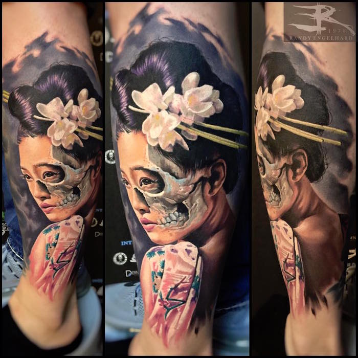 tatouage geisha japonaise fleur japonaise tattoo