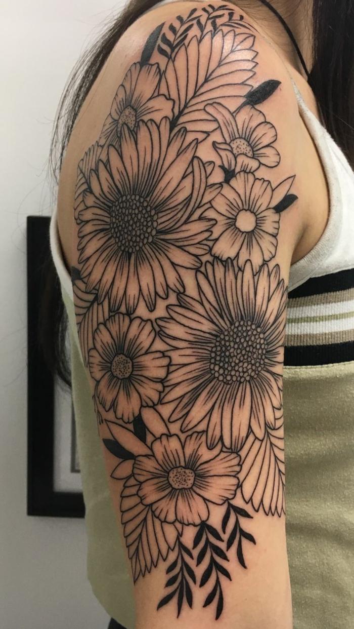tattoo demi bras homme