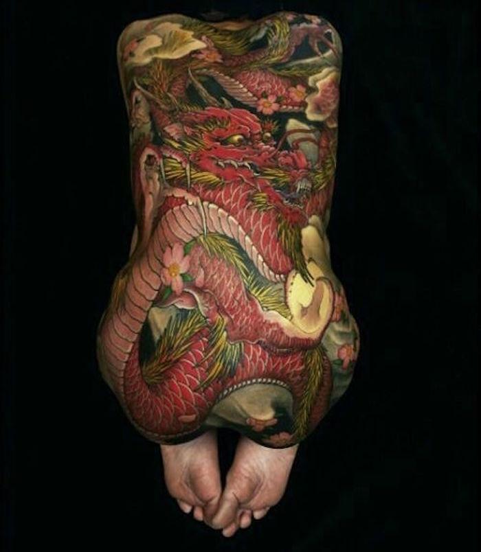 1001 id es tatouage dragon japonais mythologie et. Black Bedroom Furniture Sets. Home Design Ideas