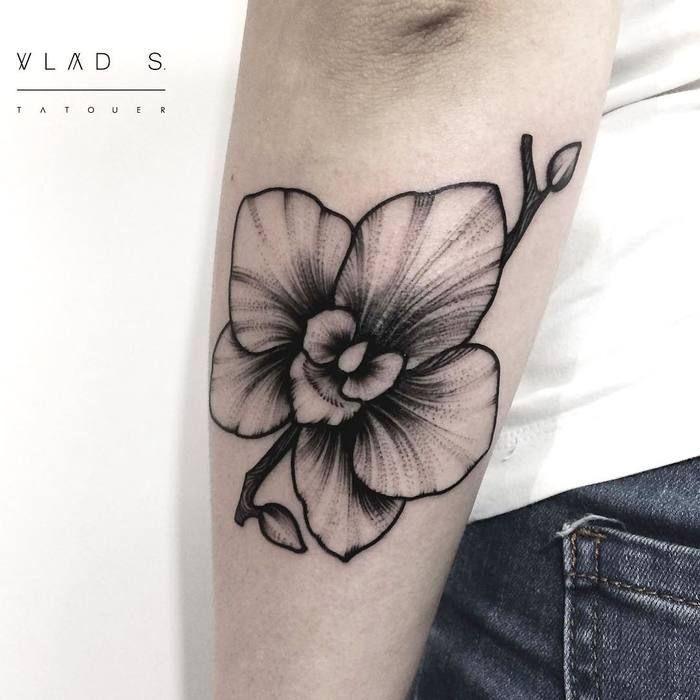 tatouage femme fleur avant bras tatouages fleurs orchidée