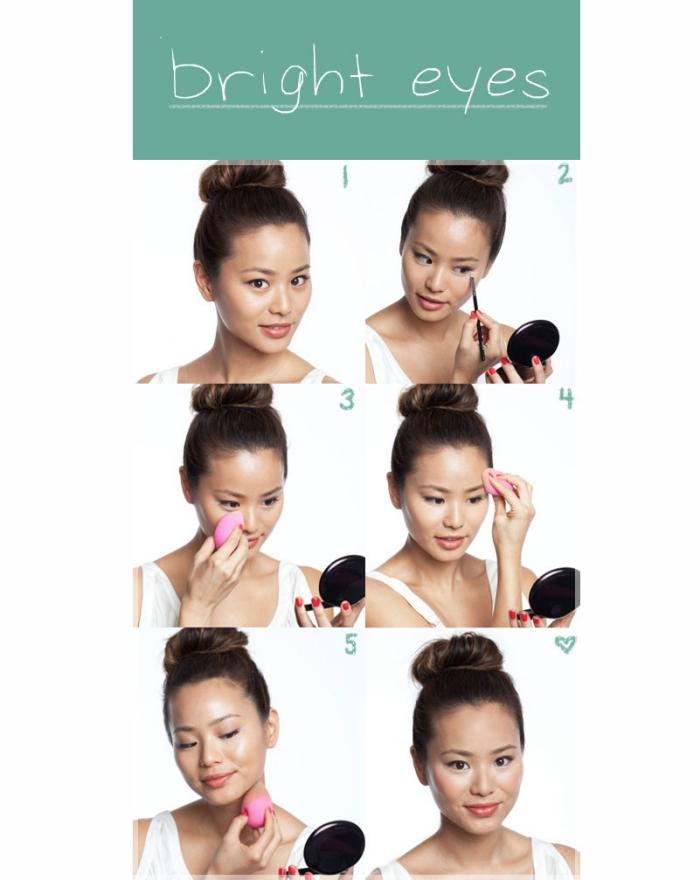 comment maquiller ses yeux, guide pour faire son contouring visage, comment se maquiller les yeux marron