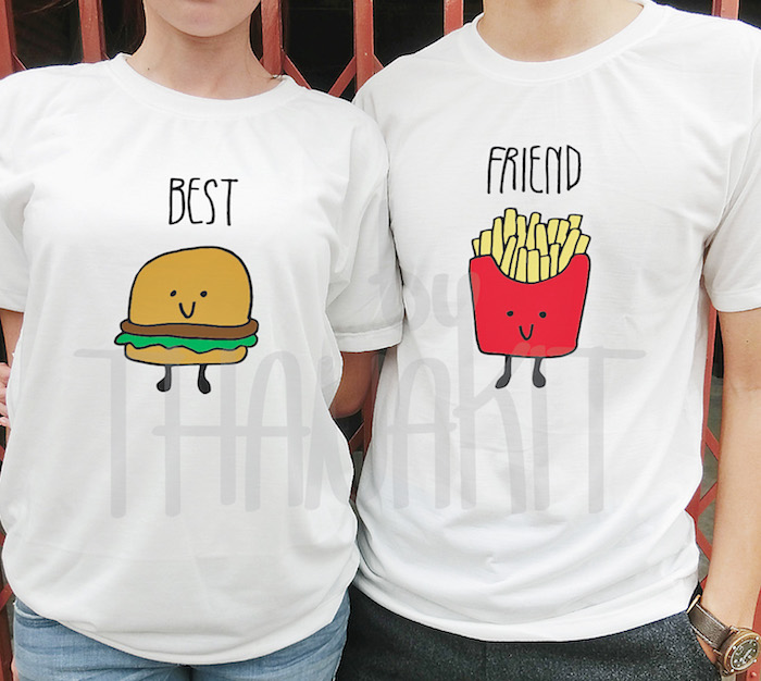 image de meilleures amies tee shirt swag amitié