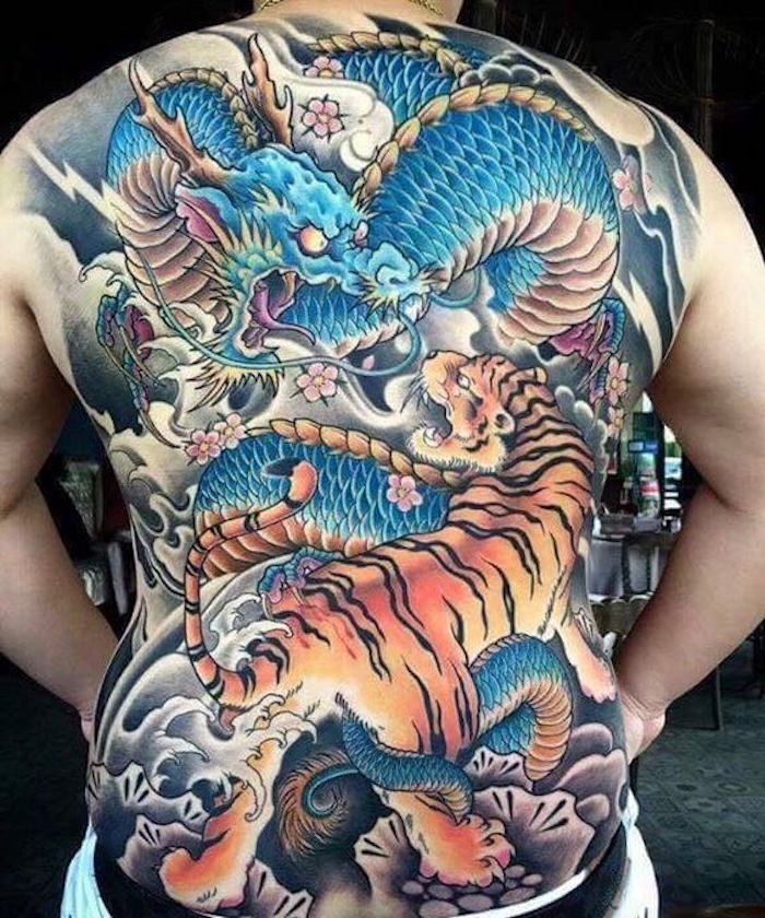 Tatouage Dragon Japonais Sur Le Bras Kolorisse Developpement