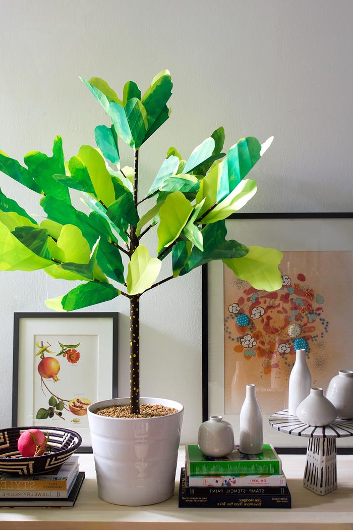 apprenez comment réaliser une plante à papier pour une touche verte dans la déco d'hiver, des loisirs creatifs originaux avec du papier