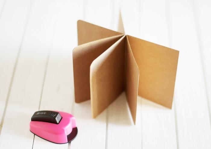 album photo personnalisé, comment créer l'intérieur de l'album diy avec papier recyclé, étape à suivre pour faire un album scrapbooking