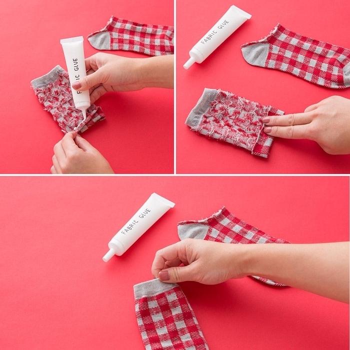un tuto couture facile d un manchon de tasse à café à partir d une chaussette