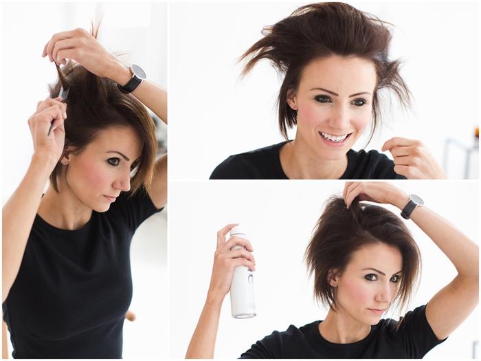 coiffure simple et rapide qui donne du volume aux cheveux fins et sans vie