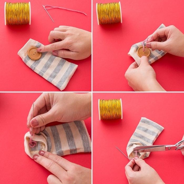 comment coudre facilement un étui à lunettes, idées créatives pour un bricolage de couture avec chaussettes