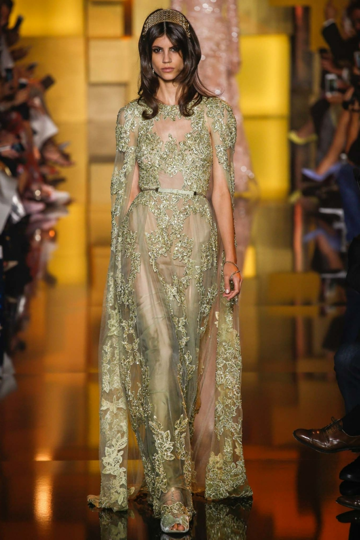 La robe dorée robe de mariée dorée mariage invitée idée tenue elie saab robe mariage