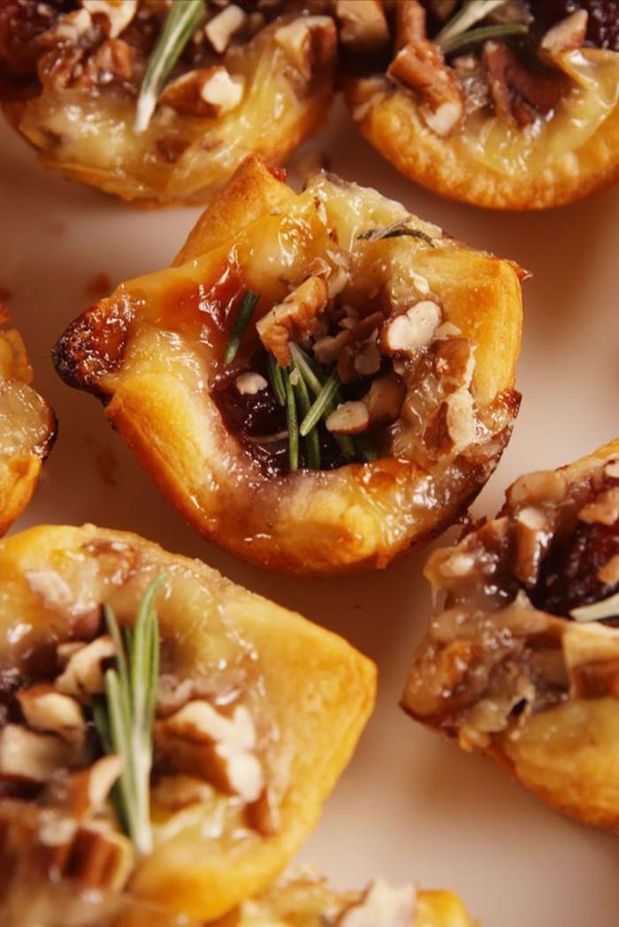 recette de bouchées au brie et aux canneberge pour un apéro léger et original qui ravira les invités