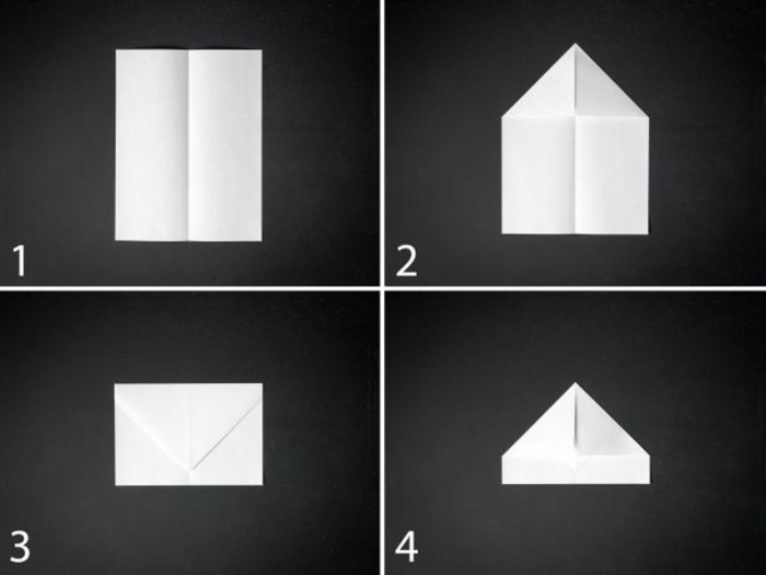 tuto de pliage avion papier à design simple et facile à rerpoduire, modèle d'avion en papier de base