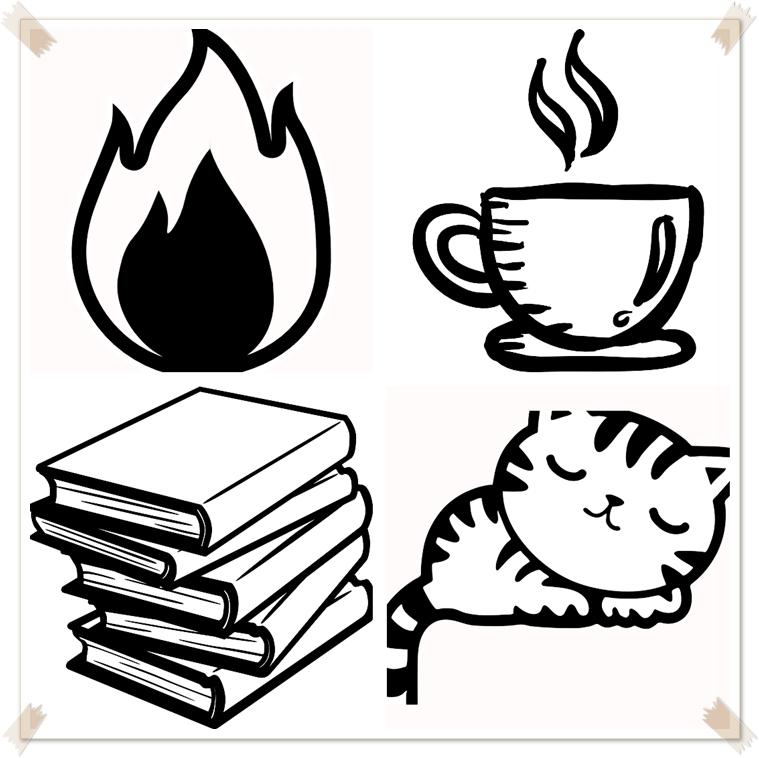 apprendre dessiner petit chat endormi tasse cafe feu objets cocooning deco automne dessin crayon simple debutants dessin noir et blanc simple