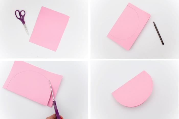 bricolage enfant, étapes à suivre pour fabriquer une guirlande en papier avec fruits rose et rouge