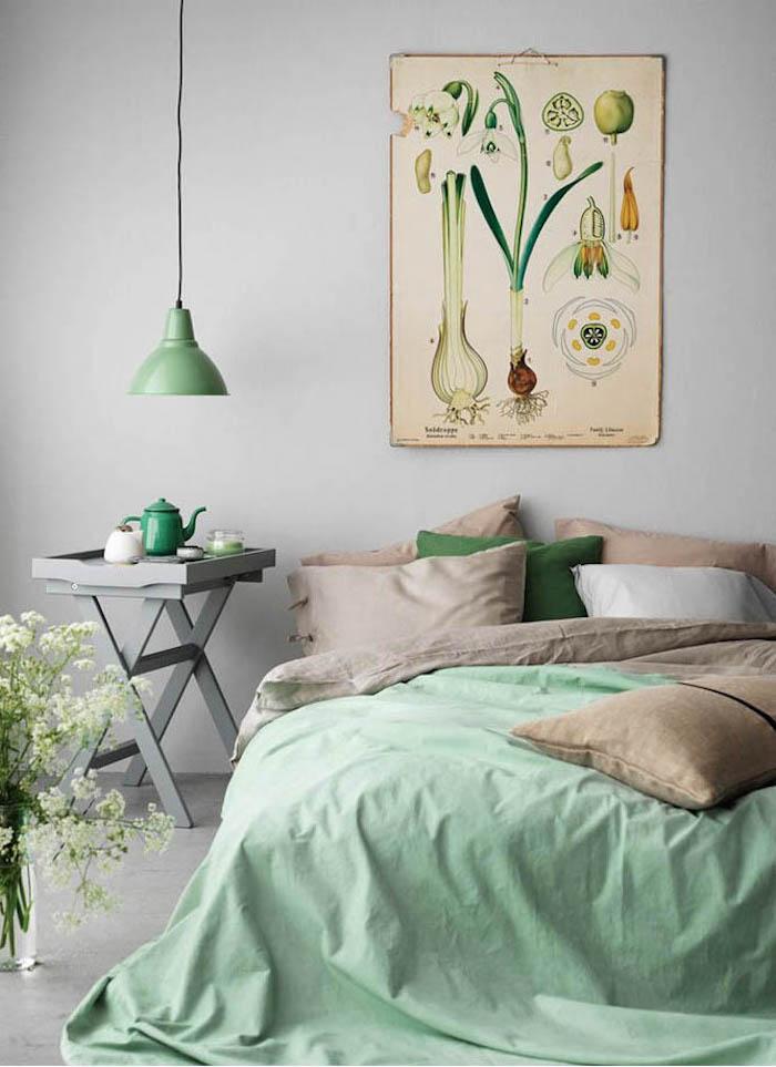 association de couleurs pour décoration chambre adulte