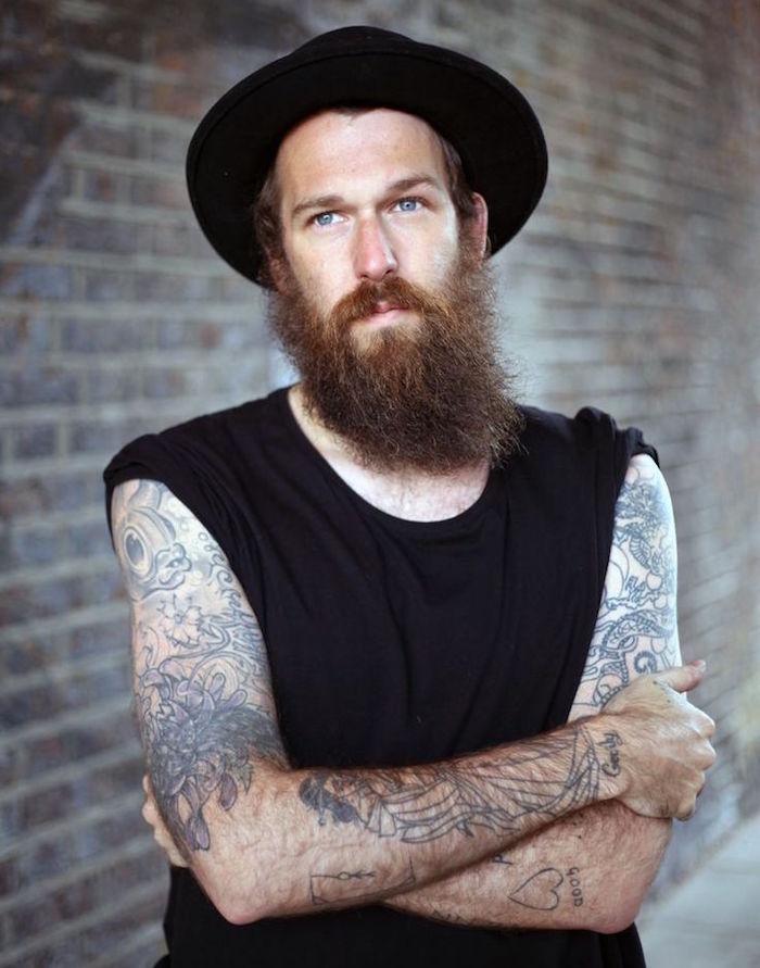 entretenir sa barbe longue hipster tatoué style amish