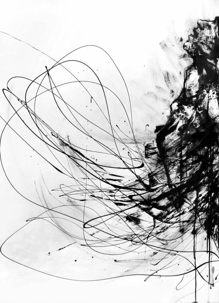 Art dessin noir et blanc abstrait dessin copie de inc en crayon admirable dessin artistique