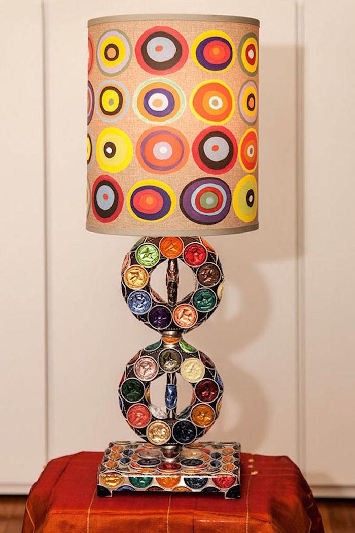 idée bricolage avec capsules nespresso activité manuelle art recyclage