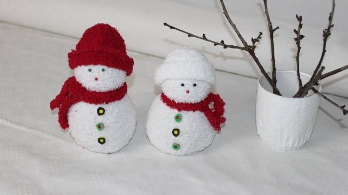 comment faire un bonhomme, déco de Noel facile à faire soi-même, activité manuelle pour les enfants
