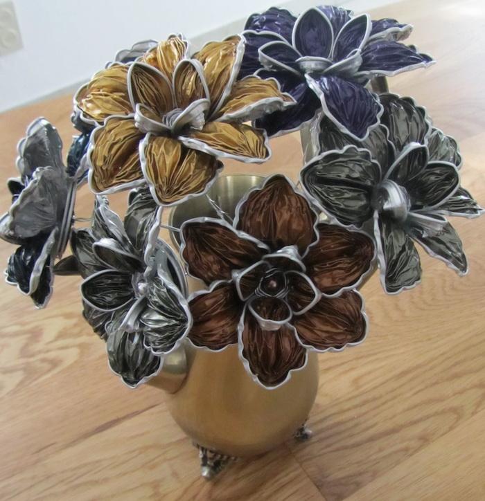 recyclage capsules nespresso bijoux bouquet de fleur kitch