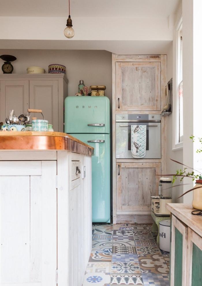 1001 mod les de cuisine avec carreaux de ciment for Cuisine carreaux
