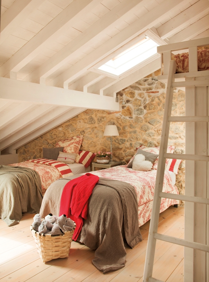 1001 exemples parfaits d 39 une chambre sous combles - Mur chambre ado ...