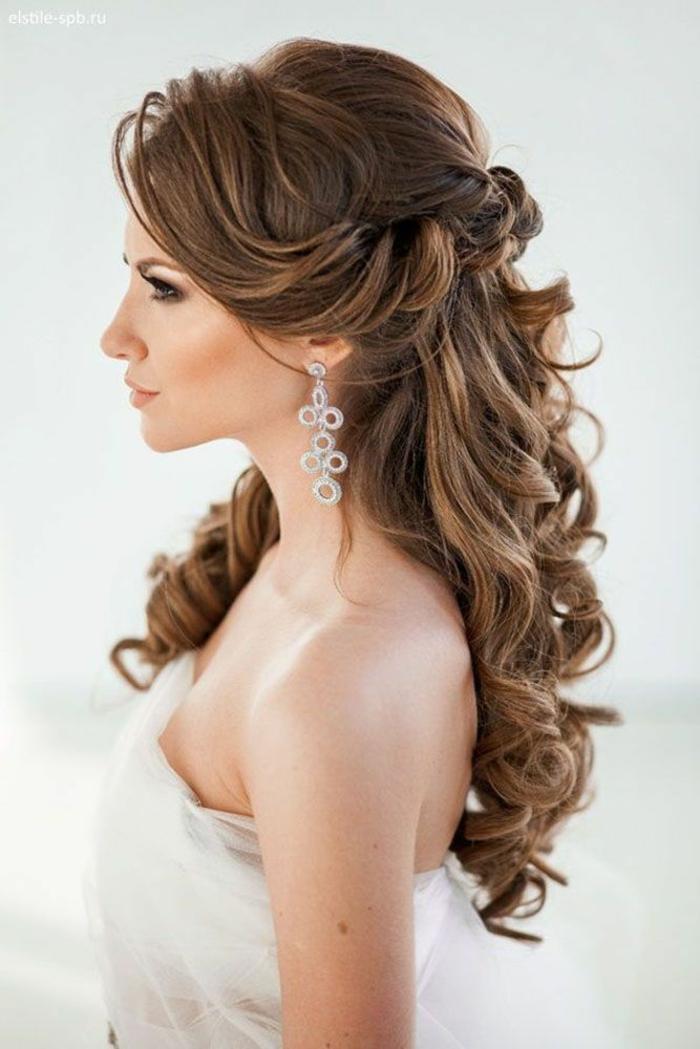 Modele de coiffure cheveux long pour mariage