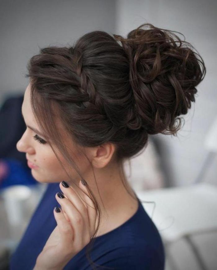 Chignon Sur Cheveux Mi Long Pour Mariage Coupes De Cheveux