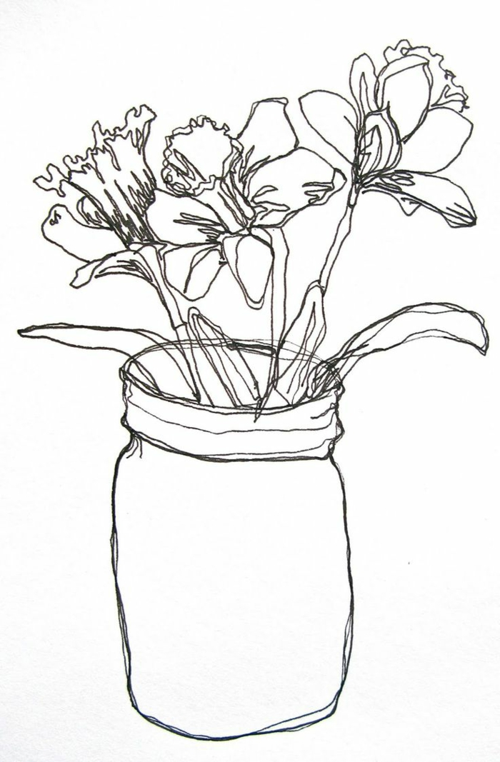 Simple Contour Line Drawings Of Flowers : Photos de dessin noir et blanc qui vont vous aider