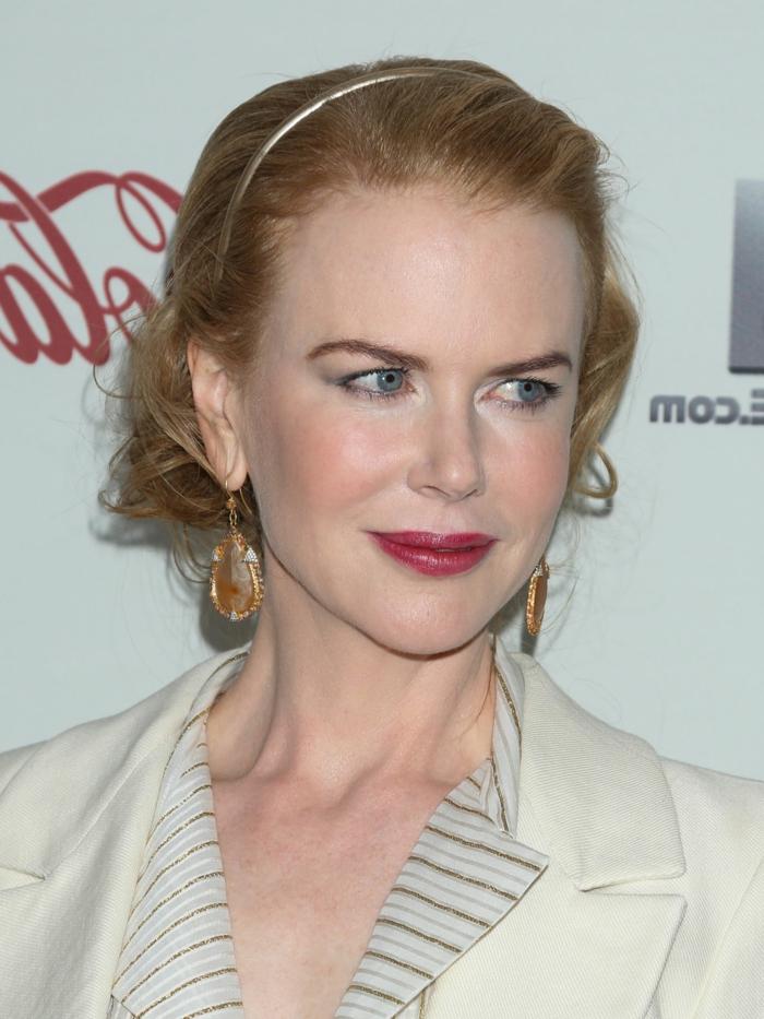 coiffure headband, Nicole Kidman avec un faux carré et diadème cheveux subtile