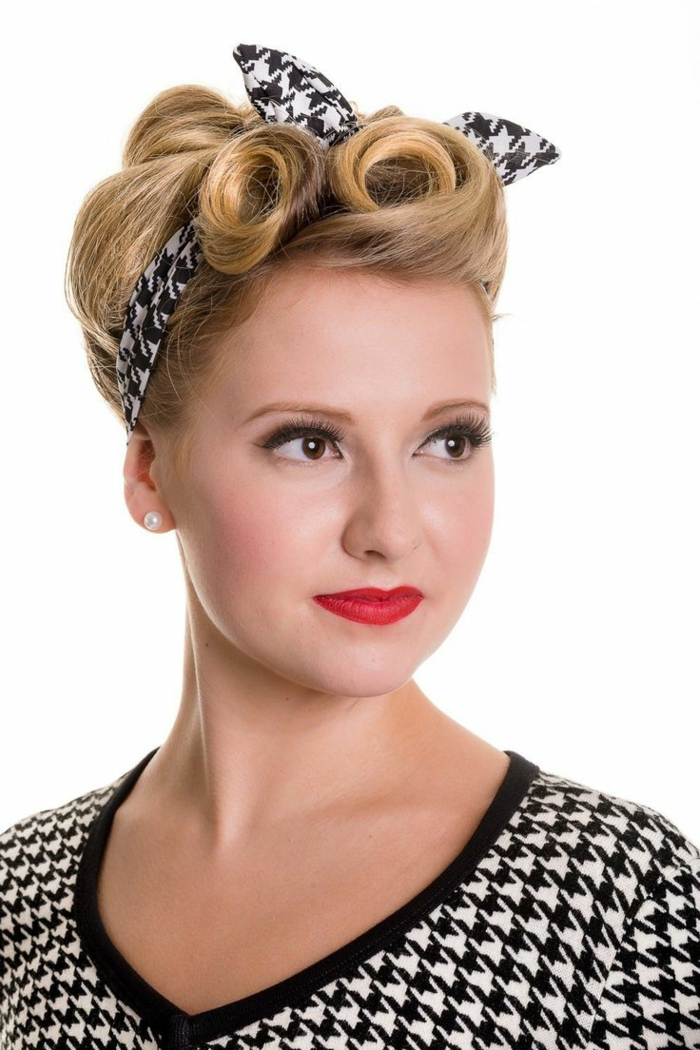 rockabilly coiffure femme elegant with rockabilly coiffure femme bandana foulard pinup rtro us. Black Bedroom Furniture Sets. Home Design Ideas