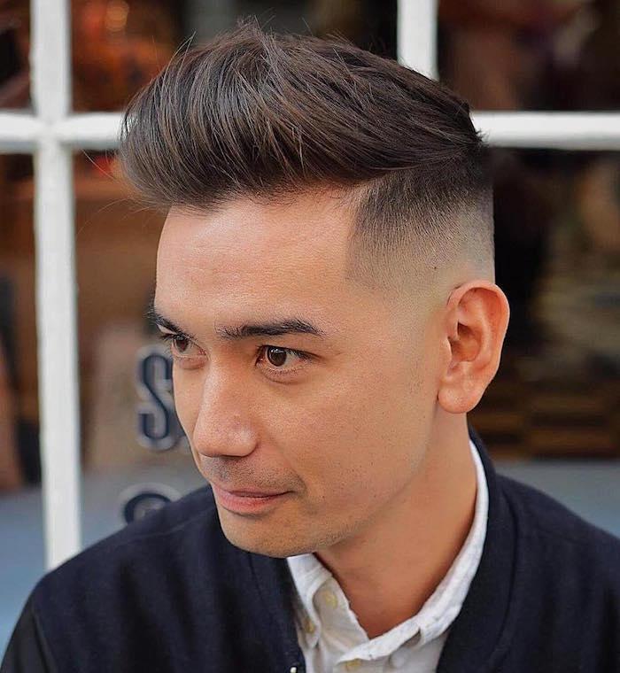 coiffure degrader coupe homme rasé coté