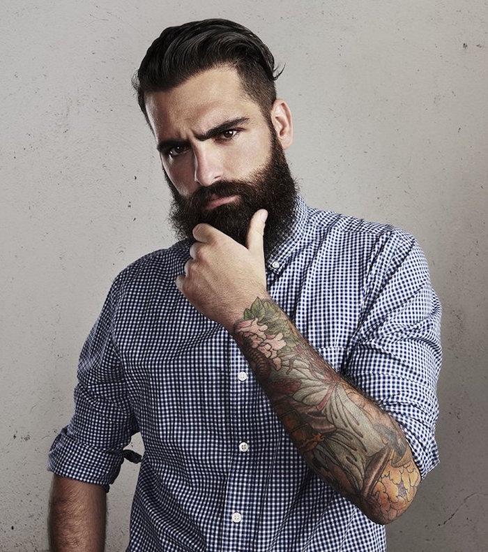 la barbe a la mode hipster coiffure homme pompadour