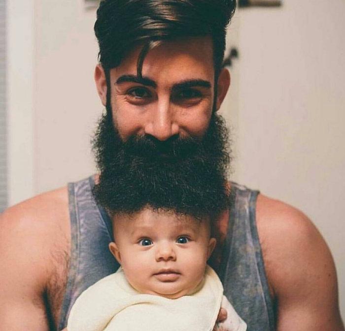 tailler barbe épaisse brun cheveux epais tendance