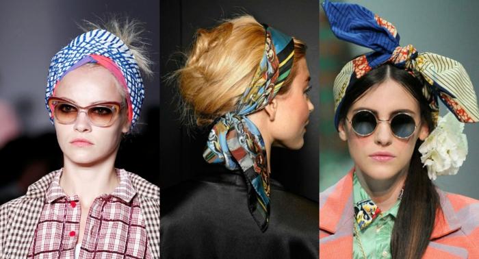comment mettre un headband, manières de nouer son écharpe, bandeau en textile