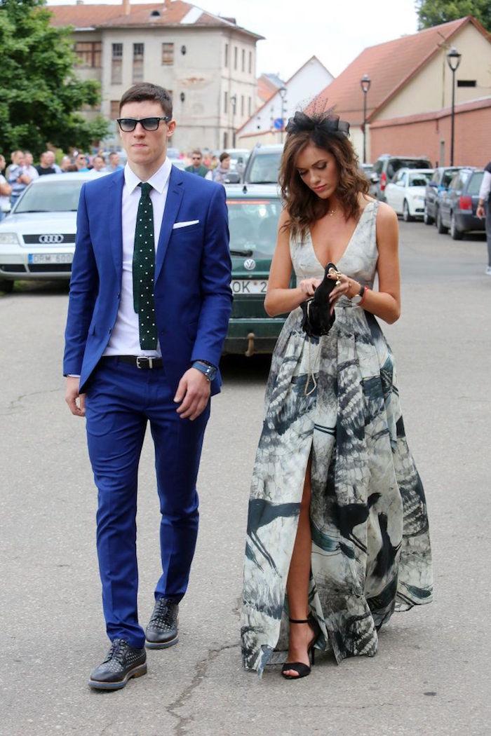 tenue homme smoking mariage costume boss bleu roi cintré